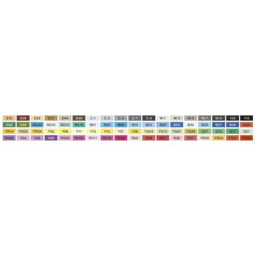 Набор маркеров Copic Sketch Set А, 72 шт - 21075160