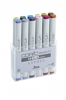 Набор маркеров Copic Sketch Set EX-6, 12 шт - 21075410