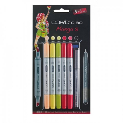 Маркеры COPIC Ciao Set Manga 8, маркеры 5+1 лайнер - 22075568