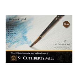Склейка для акварели «St.Cuthberts Mill» А2, 260г/м2, 10л, SMILTAINIS