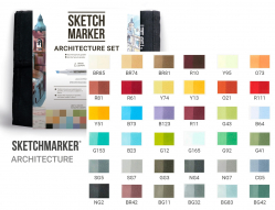 Набор маркеров Sketchmarker Architecture 36 шт арт 36arch
