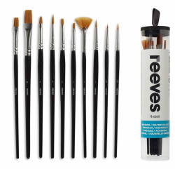 Набор кистей для гуаши Reeves Watercolour Set 10 шт