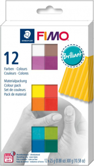 Пластика Fimo Brilliant Colours, 12х25 гр - 8023C12-2