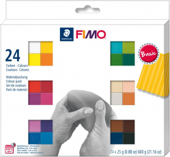 Пластика Fimo Basic Colours, 24х25 гр - 8023C24-1