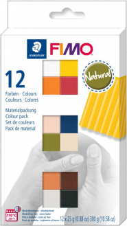 Пластика Fimo Natural Colours, 12х25 гр - 8023C12-4
