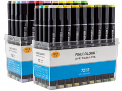 Набор маркеров Finecolour Brush 72 цвета арт EF102-TB72