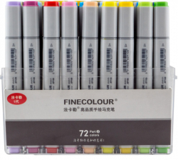Набор маркеров Finecolour Sketch 72 цвета EF100-TB72