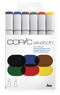 Маркеры Copic Sketch Set Bold Primaries 6 шт 21075662