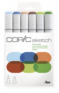 Маркеры Copic Sketch Set Earth Essentials 6 шт 21075665