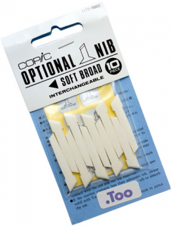 Перо широке для маркера Copic classic, Nibs Soft Broad (10 шт)