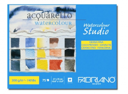 Склейка для акварели Fabriano Watercolor Studio A4 пл 300г/м2 75л ср зерно